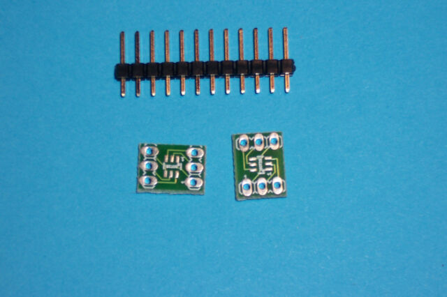 SOT23 SOT-23  to DIL DIP adapter board to 6 pin DIL Qty 2 NEW