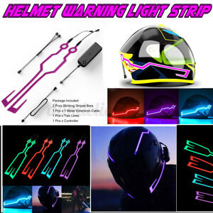 Motorcycle-Helmet-Light-Strip-Motor-Bike-Signal-Night-Safety-Riding-Lights-DC