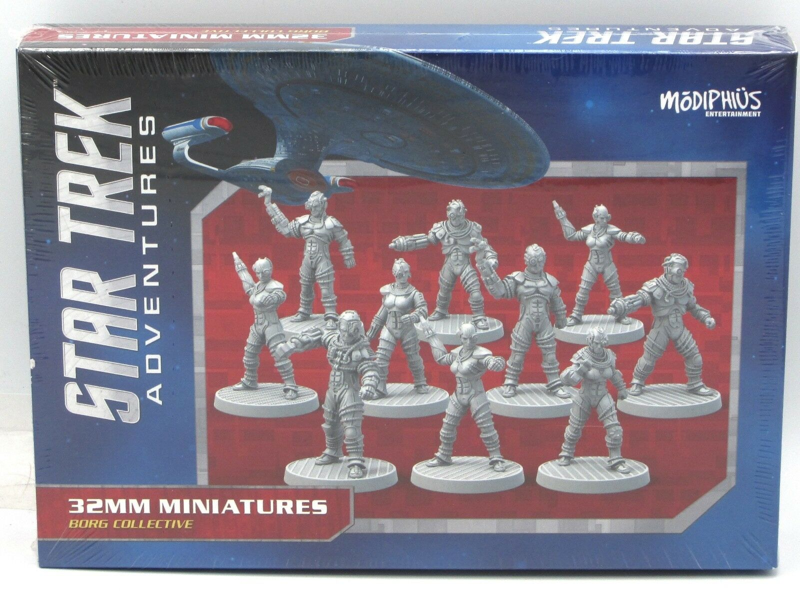 Star Trek Adventures MUH051082 Borg Collective (32mm Miniatures) Male Female