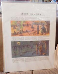 Injun-Summer-Cartoon-Reprint-Art-Plaque-John-T-McCutcheon-1912-Chicago-Tribune