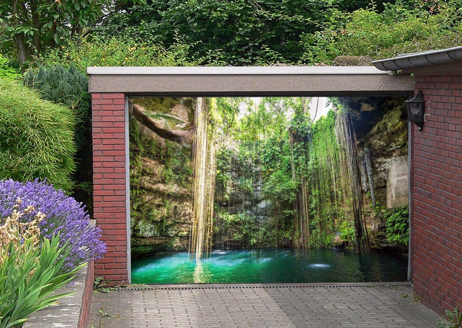 3D bluee lake 33 Garage Door Murals Wall Print Decal Wall Deco AJ WALLPAPER UK