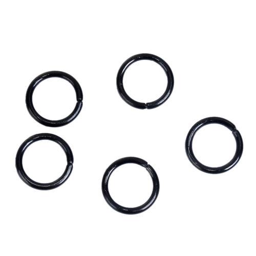 20-100 pcs 15 Options Available! 15-20 ga Single Loop 8mm Open Jump Rings