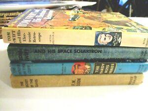 TOM-SWIFT-HARDY-BOYS-LOT-4-BOOKS-VINTAGE-CAVES-CLIFF-SOLARTRON-RETROSCOPE-HC-HB