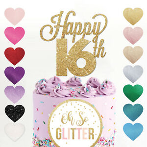 Image Is Loading Happy 16th Birthday Cake Topper Sweet 16 Daughter