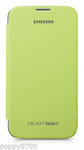 NEW-Original-OEM-Samsung-Galaxy-Note-2-Protection-Flip-Cover-Case-Lime-Green