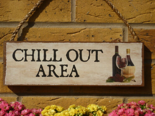 PERSONALISED DRINKS SIGN CHILL OUT AREA SIGN GARDEN SIGN GIFTS FOR WINE DRINKERS