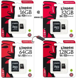 SCHEDA-MEMORIA-KINGSTON-MICROSD-MICRO-SD-4-8-16-32-4GB-8GB-16GB-32GB