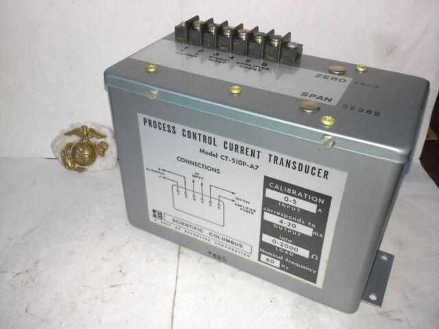Scientific Columbus CT-510P-A7 Current Transducer Multi Avail