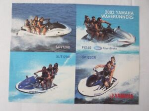 2002 Yamaha Waverunner Jet Ski Watercraft Boat Sales Sheet Brochure Xlt1200 Ebay