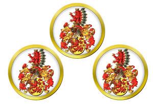 Habsburg-Autriche-Marqueurs-de-Balles-de-Golf