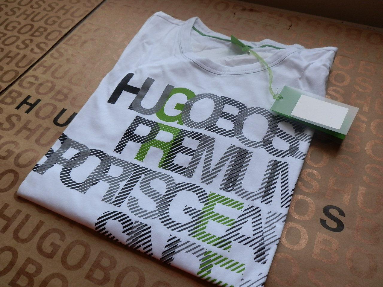 NEW HUGO BOSS MENS WHITE DESIGNER PREMIUM SPORTS GEAR JEANS SUIT BAG T-SHIRT M L