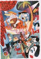 BEATNIKS FLINTSTONES PRINT Hanna Barbera COOL DADDY-O