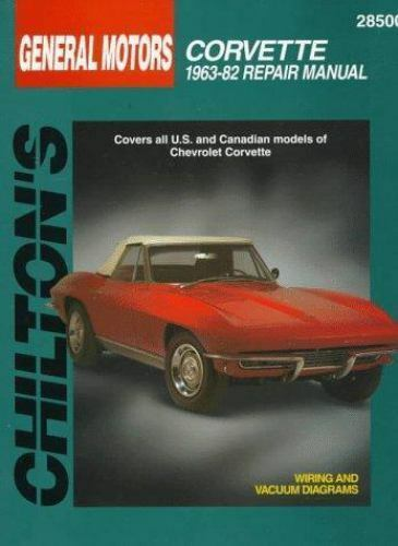 total car care repair manuals chevrolet corvette 1963 82 by rh ebay com 2005 Corvette 2004 Corvette