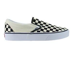 Mens-Vans-Classic-Slip-On-Checkerboard-Black-White-VN000EYEBWW