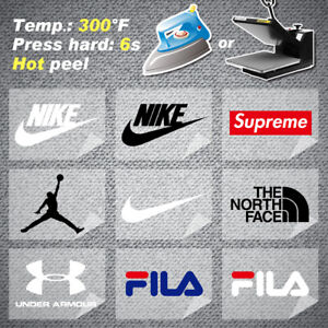 12pcs Iron On Patch Sticker Fabric Transfer Fashion Wear Brand