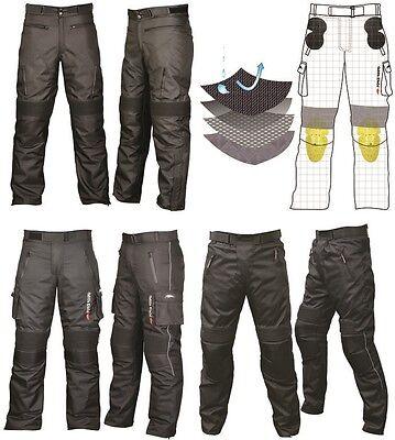 Men's Cordura Textile Waterproof Motorbike Motorcycle Trousers Pants