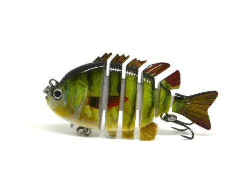 """BLITZ BITE 3/"""" Crazy Panfish Series Multi Jointed Bass Fishing Lure Bait Swimbait"""