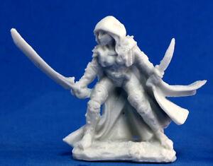 1 x DELADRIN ASSASSIN - BONES REAPER figurine miniature jdr d&d human rpg 77035