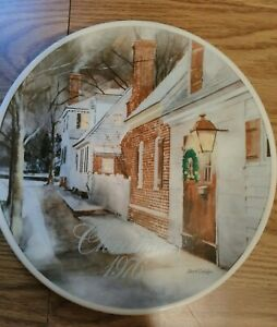 1976-Vintage-SMUCKERS-Strawberry-Lane-Collector-039-s-Christmas-Plate-David-Coolidge