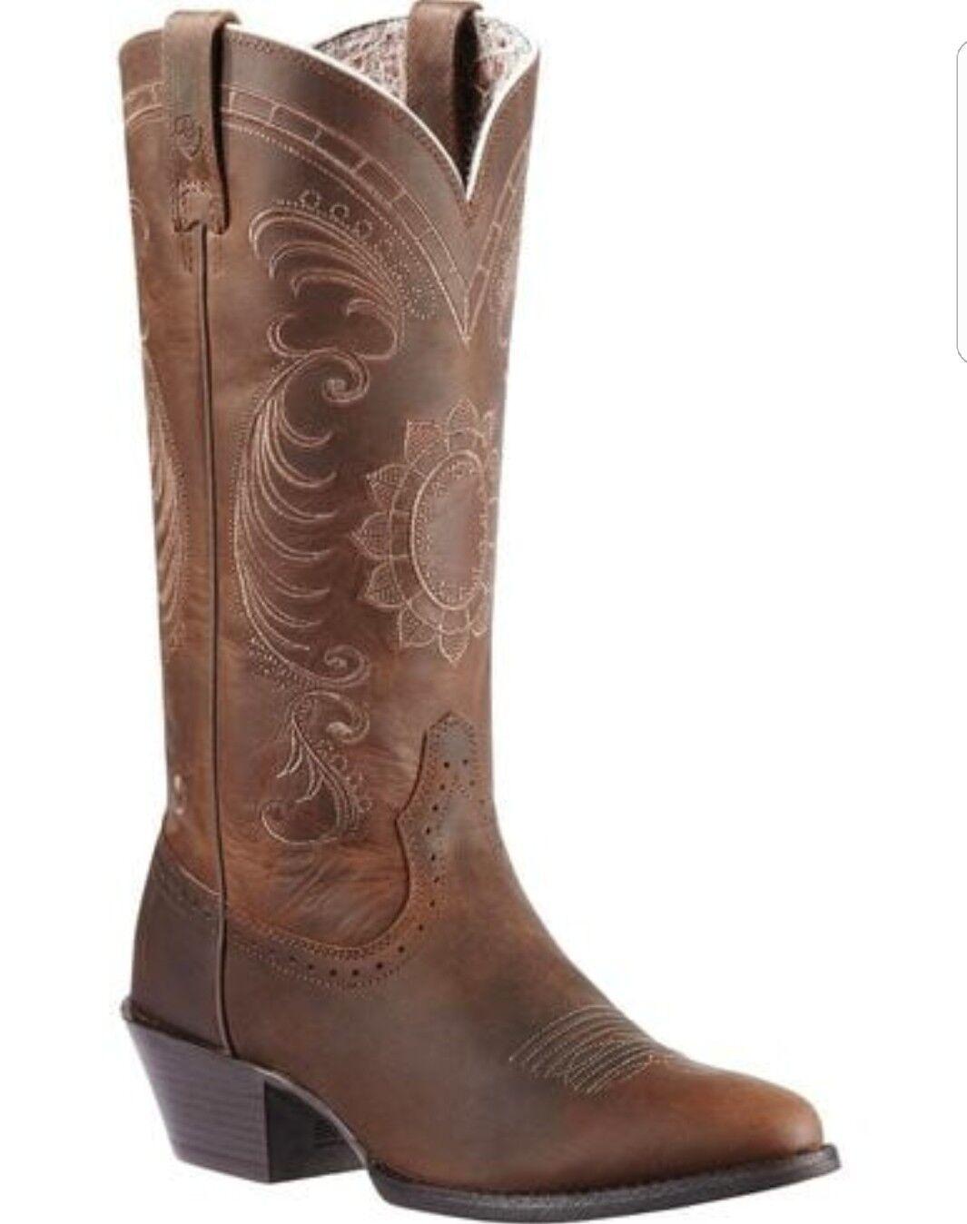 Ariat Magnolia Sunflower Stitch Cowgirl Boots - - - Medium Toe 02f010