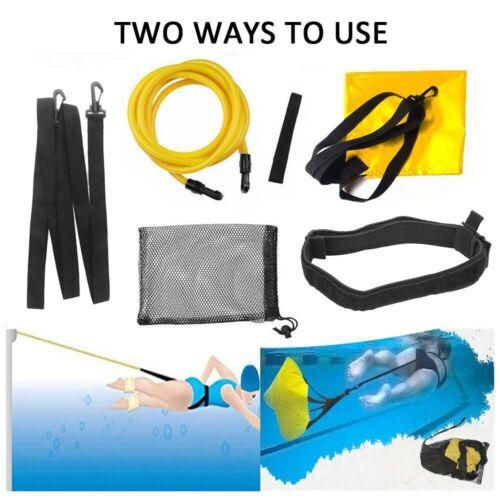 Schwimmtrainer Gürtel Stationärer Schwimmwiderstand Fallschirm Zuggurt Kit 3M
