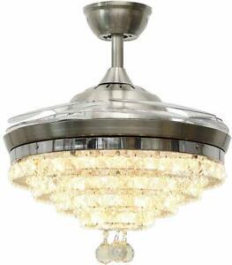Ceiling Fans Crystal Led Light
