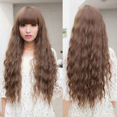 Weiblich Perücke Gelockt LOCKEN ca.70cm Lang Haar Wig Wigs PARTY in 4 Farbe