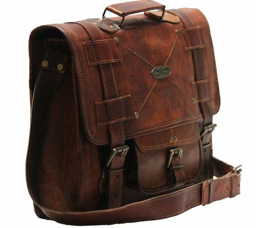 Vintage USA Men/'s Women/'s Leather Briefcase Messenger Bag