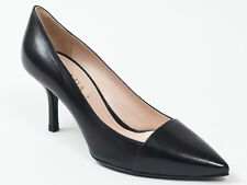 New  Prada Black  Leather Shoes Size 36 US 6