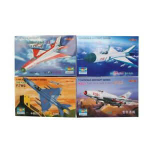 Trumpeter-4PCS-1-144-Aircraft-Fighter-PLAAF-PLA-Military-Model-Assemble-Kit