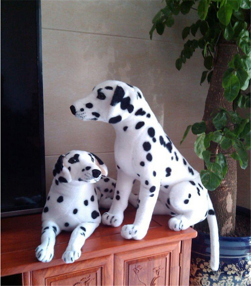 Simulation Dalmatians Dog Plush Toys 35'' Soft Stuffed Lifelike Animal Doll Gift