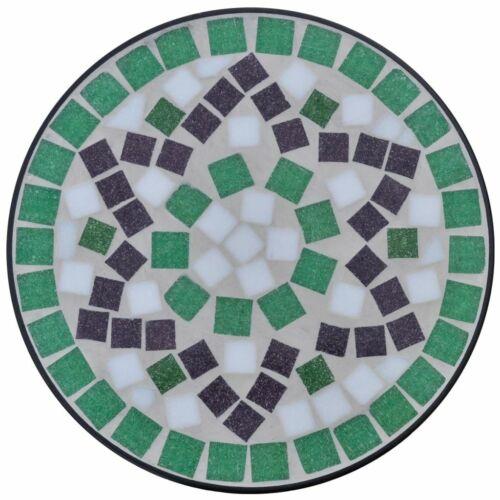 Mosaic Side Plant Table Garden Tables Ceramic Tiles Iron Patio Outdoor Green