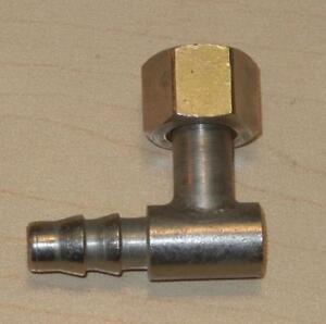 "Original 1940's-1960's BSA Matchless 7/16"" X 19 TPI 90 degree fuel line elbow  T"