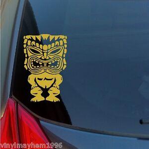 Hawaiian-Tiki-god-vinyl-sticker-decal-Maui-Kauai-lei-tribal-Polynesian-culture