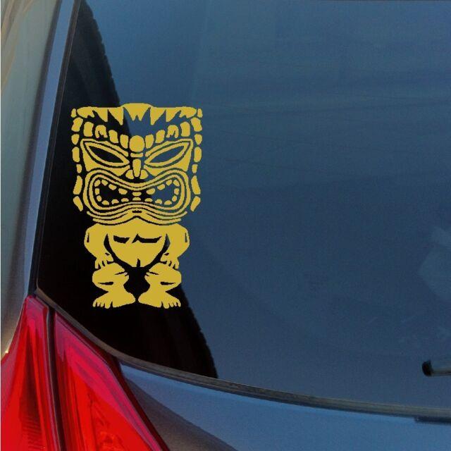 Hawaiian Tiki god vinyl sticker decal Maui Kauai lei tribal Polynesian culture