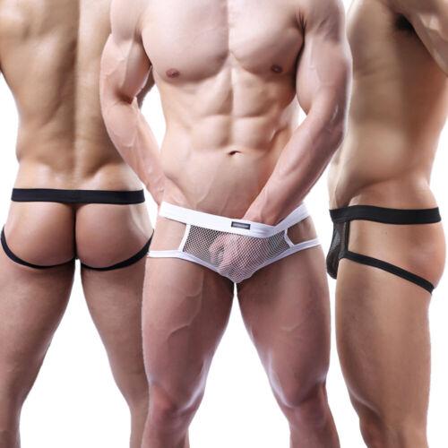 Backless Men/'s Briefs Fishnet Bikini Thongs Summer Breathable Triangle Underwear