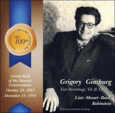 Grigory Ginzburg: Live Recordings, Vol. 2, CD 2: Liszt, Mozart, Ravel, Rubinstein (CD, Mar-2006, Vox Aeterna)