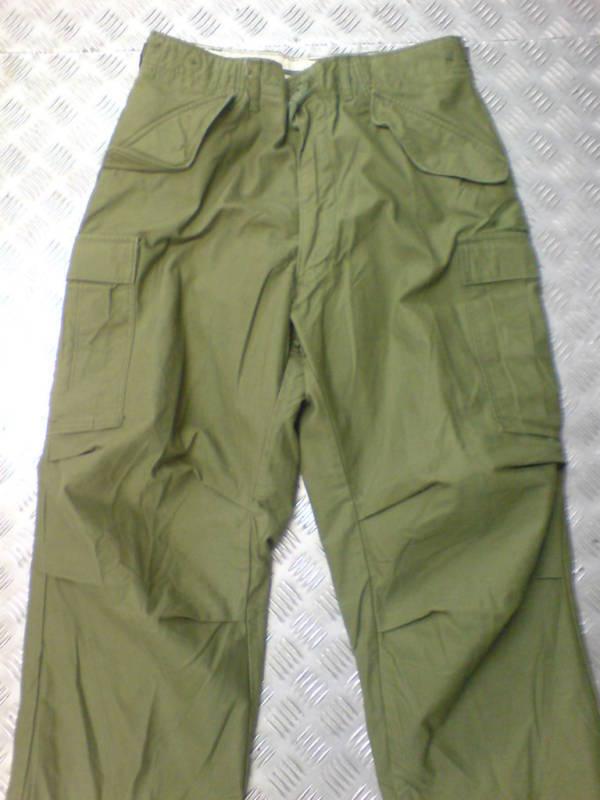 Genuine US Army M65 Trousers. Green   OD - Size  Medium Short