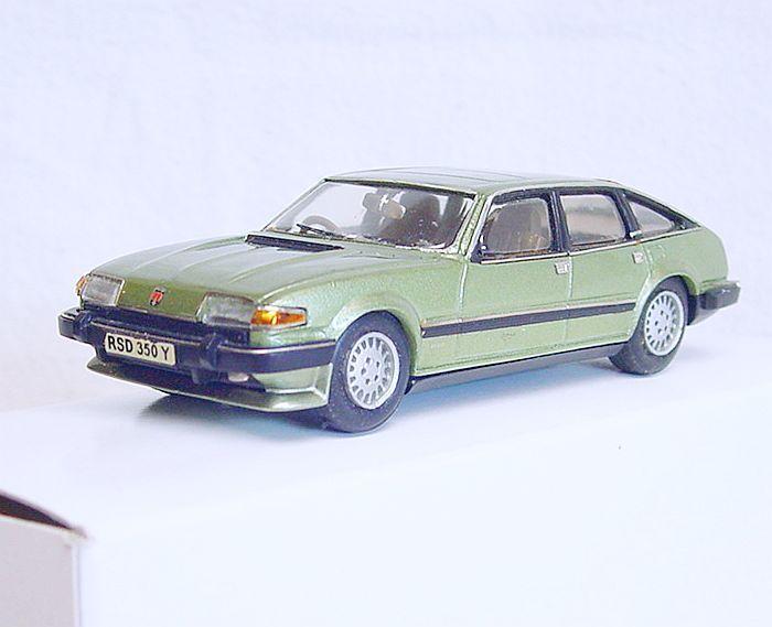 Conquest Models 1 43 ROVER 3500 SD1 V8 bianca Metal Kit Car Hand Built MIB RARE