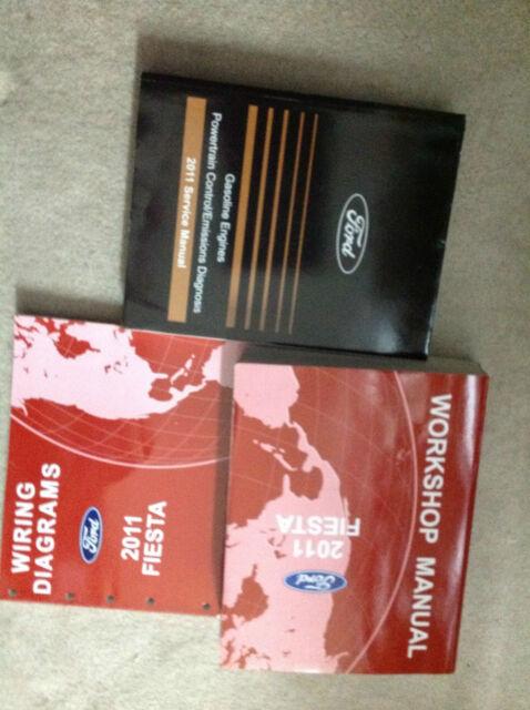 2011 Ford Fiesta Service Shop Repair Manual Set W