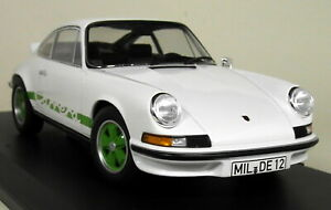 Norev-1-18-Scale-Porsche-911-RS-Touring-1973-White-Green-diecast-Model-Car