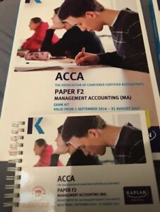 Details about KAPLAN ACCA F2 Management Accounting Exam Kit + Pocket notes  2016-2017