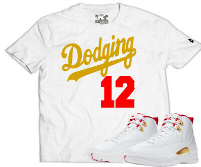Dodging 12 Kixnation Air Jordan Retro Xii Fiba Matching T Shirt