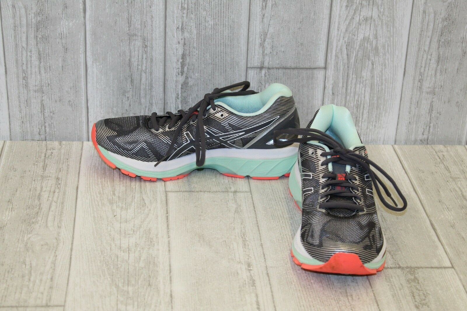 Asics Gel-Nimbus 19 Calzado para Correr, Para Para Para Mujer Talla 7.5, Carbón Menta Coral  entrega gratis