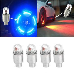 4x LED Dragonfly Car Wheel Tyre Decor Light Bulbs Tire Air Valve Stem Cap Lamps