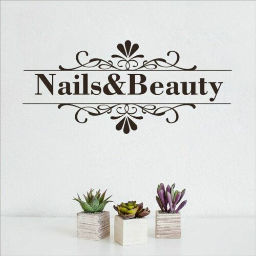 Nail Beauty Salon Wall Sticker Nail Shop Hands Manicure Salon Wall Vinyl Decal