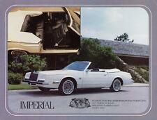 Old Print. 1982 White Chrysler Imperial Convertible Auto Advertisement
