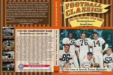 1954 NFL Championship Game at Cleveland, Browns vs Lions in COLOR Now on DVD!