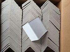 Industrial Heavy Duty Corner Edge Protector 300, White Cardboard  2 x 4 x 4 .225