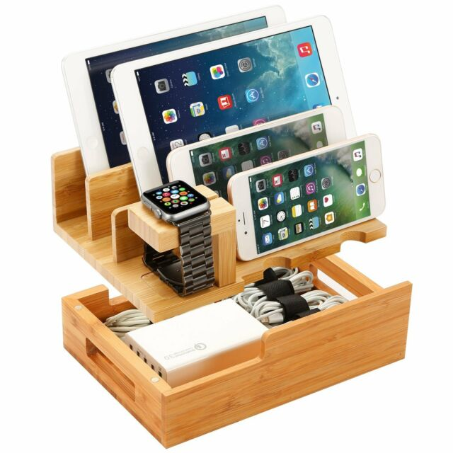 multiple iphone charging station konsait 4 in 1 multi device organizer for apple 15718